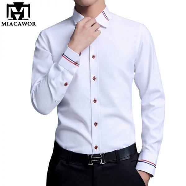 Men Dress Shirts Fashion Oxford Shirts