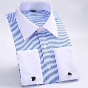 Men's Dress Shirt Loose French Shirt