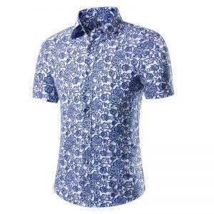 Short Sleeve Shirt Printing Man Shirt