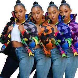 Women Coats Camouflage Jacket